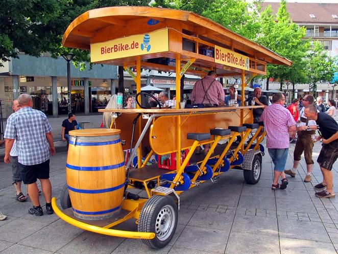 A beer bike in Berlin. - WIKIMEDIA COMMONS