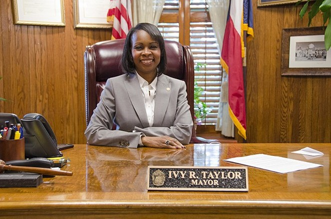 Mayor Ivy R. Taylor will deliver her speech at noon. - SARA LUNA ELLIS