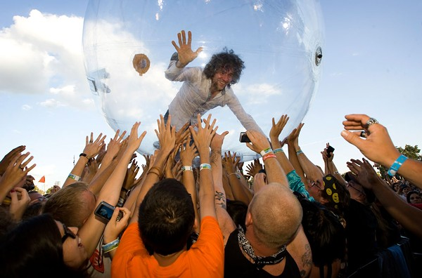 Wayne Coyne - musician, bubble boy - COURTESY
