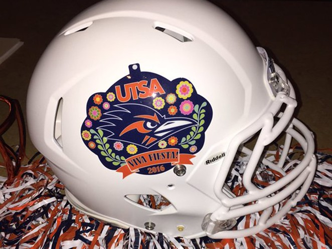 Added bonus: This is one of the coolest helmets ever known to man. - UNIVERSITY OF TEXAS AT SAN ANTONIO ATHLETIC DEPARTMENT