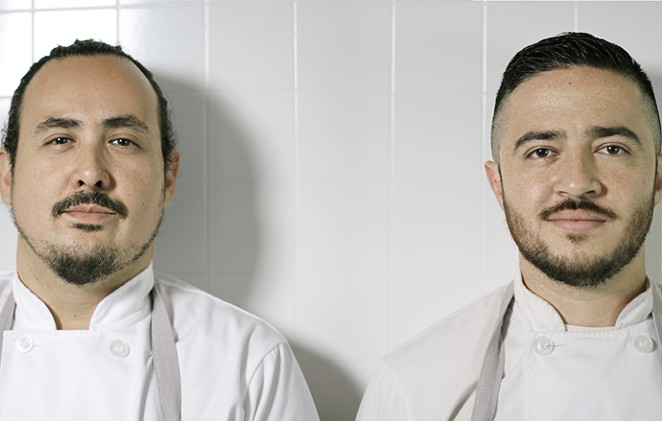 (From left) Rico Torres and Diego Galicia of Mixtli were chosen as guest chefs for the Progressive Mexican culinary series at the James Beard Foundation in New York City. - COURTESY