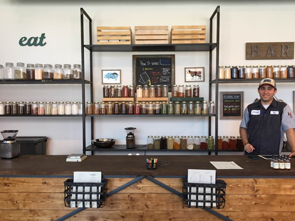Oak & Salt's owner Ben Annotti shows off his wares. - JESSICA ELIZARRARAS | SAN ANTONIO CURRENT