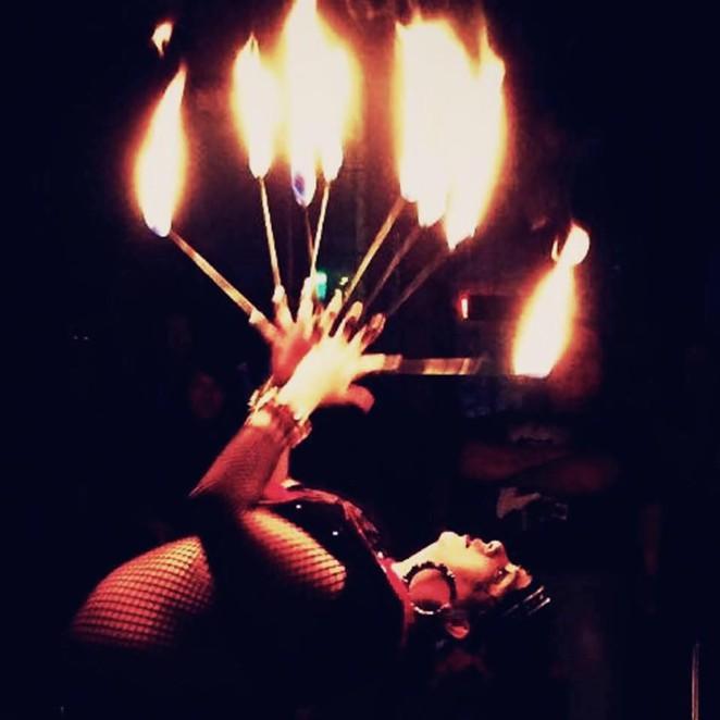 The flammable majesty of Zombie Bazaar. - FACEBOOK