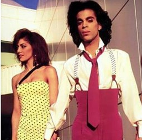Sheila E. with her one-time fiancé, the late Prince. - COURTESY