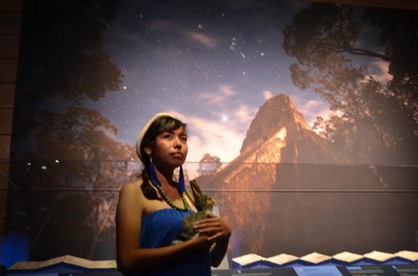 An actor impersonates Ixchel, the Maya goddess of motherhood, fertility and the moon. - MARK REAGAN   SAN ANTONIO CURRENT