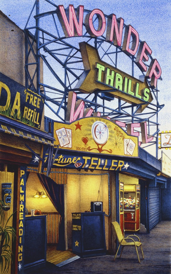 FREDERICK BROSEN, FORTUNE TELLER, JONES WALK, CONEY ISLAND, 2008, COURTESY OF HIRSCHL & ADLER MODERN, NEW YORK.