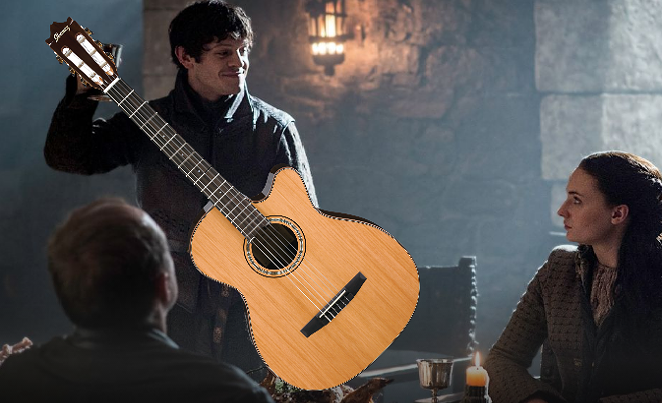 Ramsay Bolton about to please the ear, soothe the soul - PHOTO COURTESY OF GAMEOFTHRONES.COM/EDIT COURTESY OF SHANNON SWEET