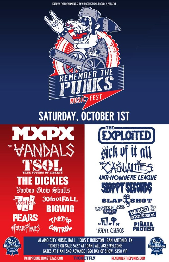 The flyer for the all-day punk show - COURTESY