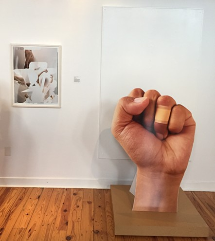 Mark Anthony Martinez, Whiteout (left) and Paper Cut  (right).