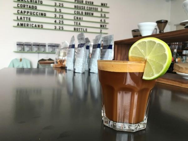 Estate Coffee Co. espresso tonic. - JESSICA ELIZARRARAS