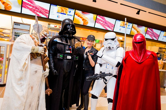 Star Wars characters make an appearance at the Casa Blanca Theater VIP event. - COURTESY