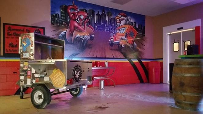 The old Rocker Dogz cart is now basically a shrine at WWCD. - FACEBOOK/WWCD