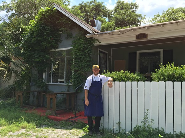 Chef Pieter Sypesteyn in front of the future NOLA eatery. - JESSICA ELIZARRARAS