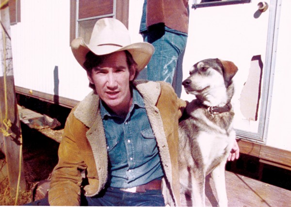 Van Zandt and his companion Geraldine. - COURTESY OF FLIGHT IN THE ATTIC