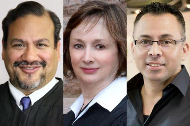 GRAND MARSHALS FOR THE PRIDE PARADE ARE JUDGE RON RANGEL AND JUDGE GENIE WRIGHT. SPIRIT MARSHAL IS JOHN NUNEZ. (COURTESY PHOTOS)ORIG