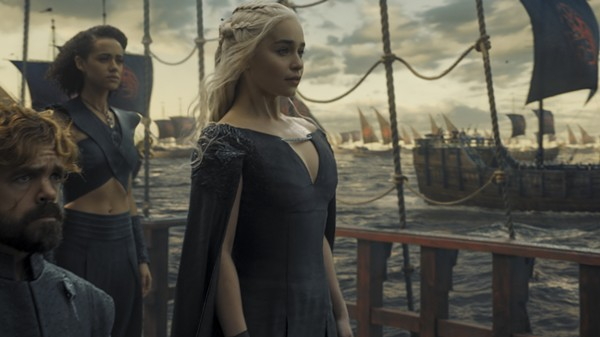 The mother of dragons heads to Westeros with the Hand of the Queen, Tyrion Lannister, at her side. - HBO