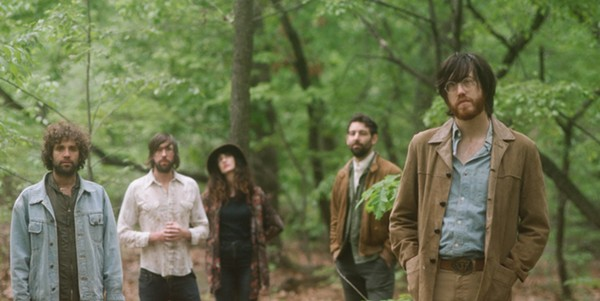 Sheff, far right, and the newest incarnation of Okkervil River. - COURTESY