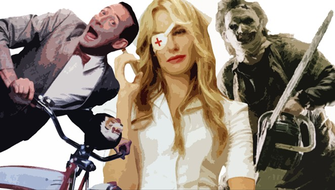 Pee-wee Herman, Elle Driver and Leatherface would be great Texas-inspired cosplay costumes for this year's Texas Comicon July 29-31. - COURTESY PHOTOS