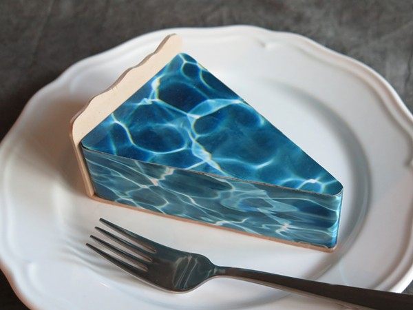 Frederick's photographic sculpture Slice of Water Pie