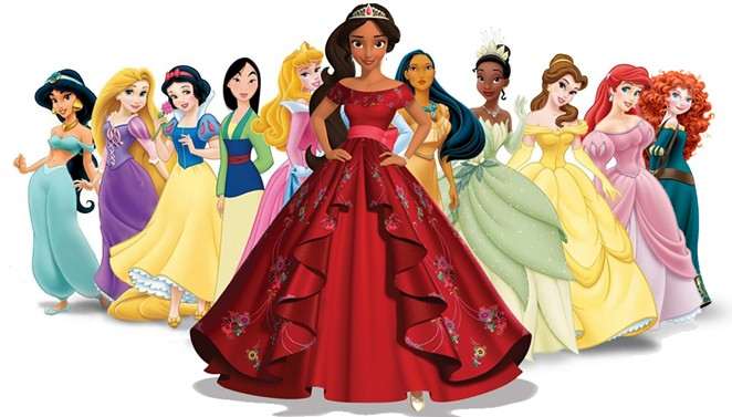 Elena Castillo Flores, front and center, is Disney's first Latina princess. She makes her TV debut on July 22 on the Disney Channel series Elena of Avalor. - DISNEY