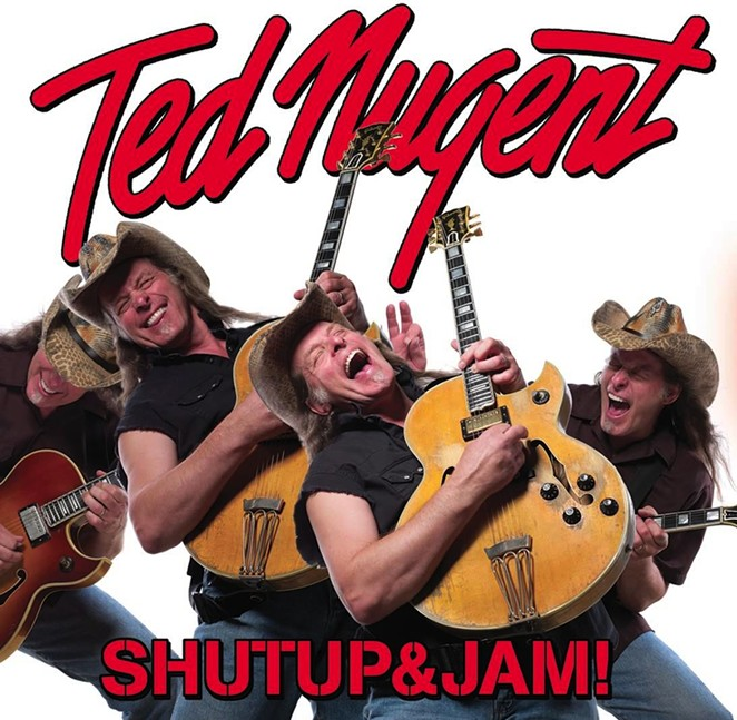 Ted Nugent on the cover of his 2014 album ShutUp&Jam