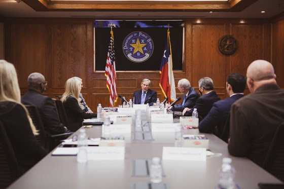 Gov. Greg Abbott speaks during Thursday's meeting with law enforcement officials. - OFFICE OF THE TEXAS GOVERNOR