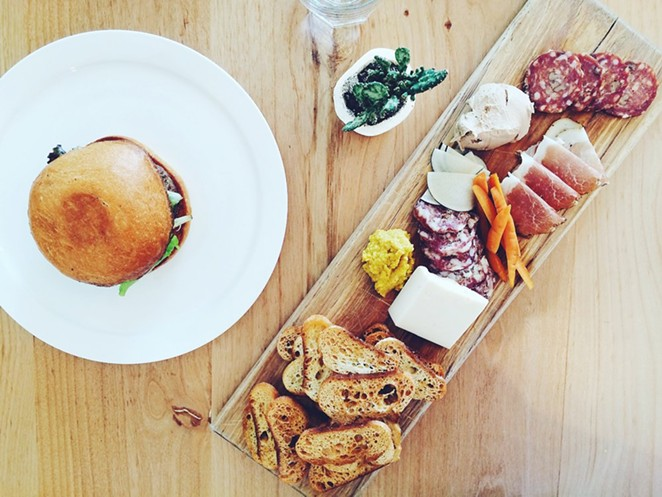 A charcuterie plate from Salt & Time -  VIA YELP/ MIMI L.