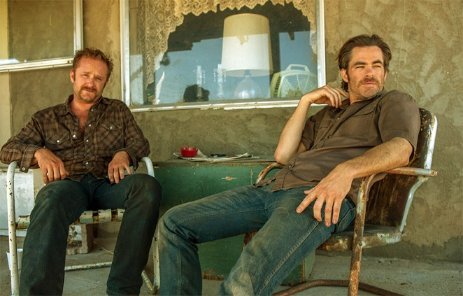 (From left) Ben Foster and Chris Pine star as Texas brothers looking for a way to save their family's home in Hell or High Water. - CBS FILMS