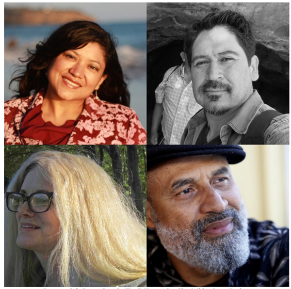 From top left: Reyna Grande, Tim Z. Hernandez, Tim Seibles, Janet Kaplan.