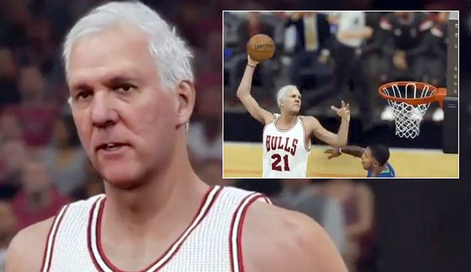 San Antonio Spurs coach Gregg Popovich gets some major playing time in a modified version of the video game NBA 2K16. - COURTESY