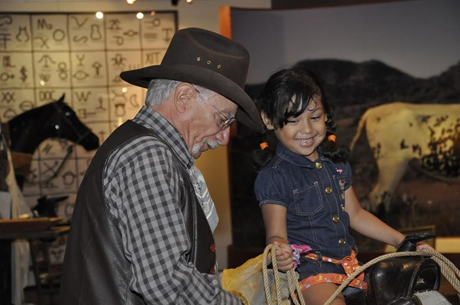 ITC docent Roland Castillo grew up in a family of vaqueros and even competed in Charreada – Mexican-style cowboy competitions.