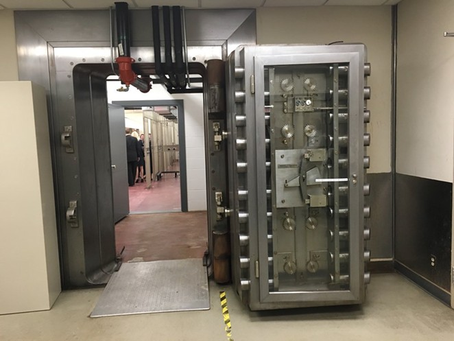 This photo shows a vault in the former Federal Reserve Bank building, where the Daughters of the Republic of Texas will house its massive Alamo Library collection. - TEXAS A&M-SAN ANTONIO | TWITTER