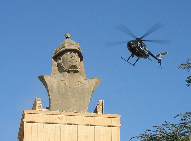 A Blackwater helicopter over Baghdad - VIA WIKIMEDIA COMMONS