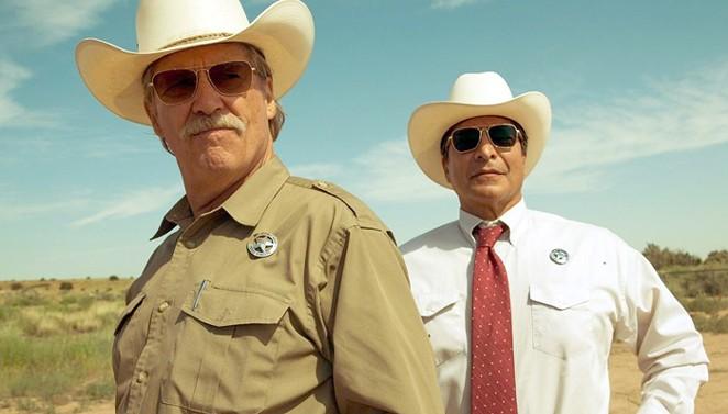 (From left) Oscar winner Jeff Bridges and Gil Birmingham star as Texas Rangers in Hell or High Water. - CBS FILMS