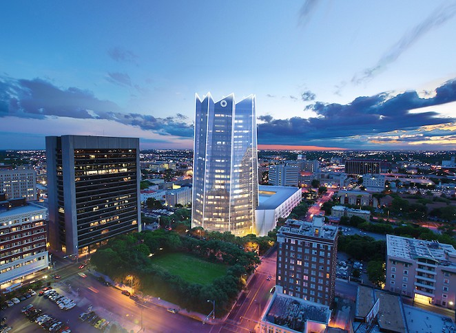 The Frost Bank Tower would be the first major addition to downtown's skyline in 27 years