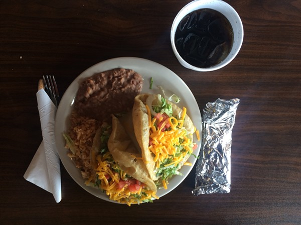 The Puffy Taco Plate at Teko Molina ($6.99)