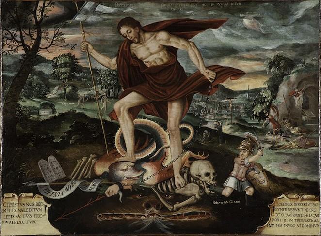 CHRIST DESCENDING INTO HELL, PERUVIAN, 18TH CENTURY