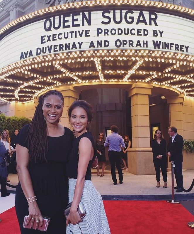 Marycarmen López (right) on the red carpet with award-winning filmmaker and executive producer Ava DuVernay at the premiere of Queen Sugar. - COURTESY