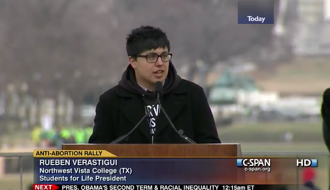 Ruben Verastigui speaks at the2013 March for Life rally in Washington D.C. - SCREEN CAPTURE / C-SPAN
