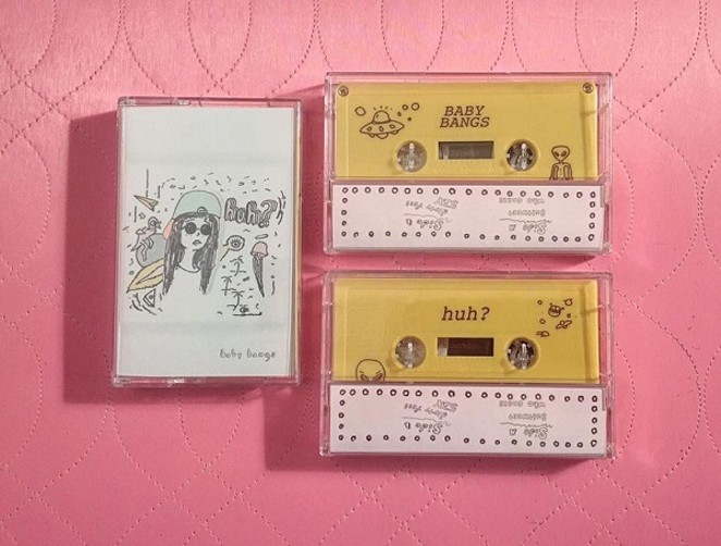 "The cassette cover for Baby Bang's debut EP ""huh?"" - COURTESY"