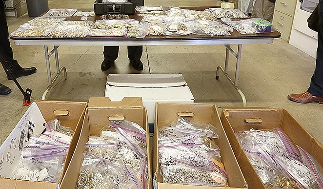 BCSO seized A LOT of jewelry from the south side's La Joyeria store