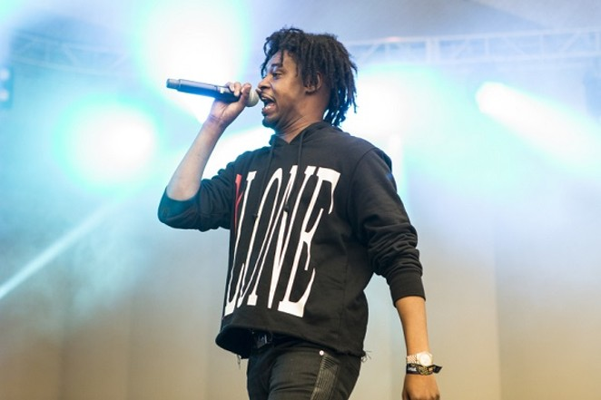 Danny Brown rockin' the mic and his trademark hairdo. - PHOTO CREDIT: PHILIP COSORES