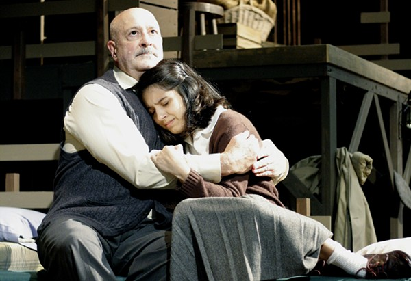 JIM MAMMARELLA AND JESSICA SALAZAR IN THE VEX'S PRODUCTION OF THE DIARY OF ANNE FRANK