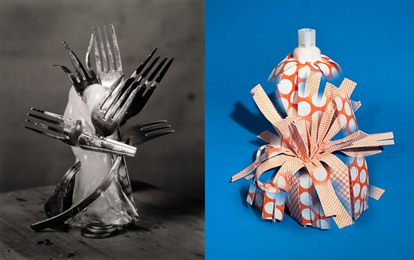 """ROBERT LANGHAM III, FOLDED FROZEN FLATWARE; CASEY JAMES WILSON, WHAT IS LEFT TO SAY ABOUT A MOP? ( """"HOLD STILL"""")"""