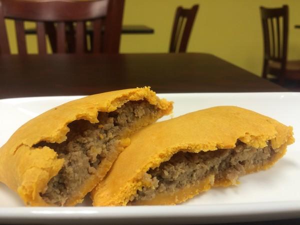 Jamaica Jamaica Cuisine's beef pattie