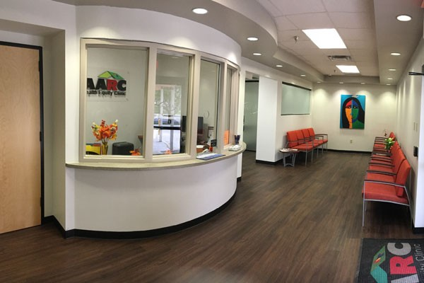 THE WAITING ROOM AT AARC'S HEALTH EQUITY CLINIC WHICH PROVIDES MEDICAL SERVICES TO THE LGBT COMMUNITY. (COURTESY PHOTOS)