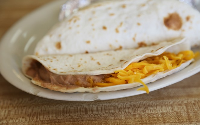 The bean and cheese taco at Pancho's is as good as it gets when it comes to bean and cheese tacos. - BEN OLIVO