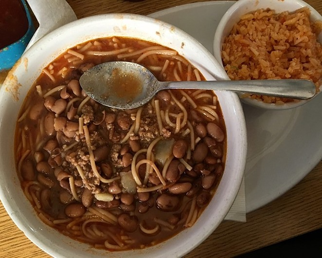 A bowl of fideo loco from Pete's Tako House, available daily. - JESSICA ELIZARRARAS