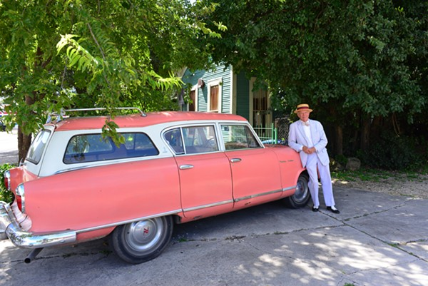 "Mike Casey and his 1950s-era Rambler ""Maude"" - ALL PHOTOS BY PAGE GRAHAM"