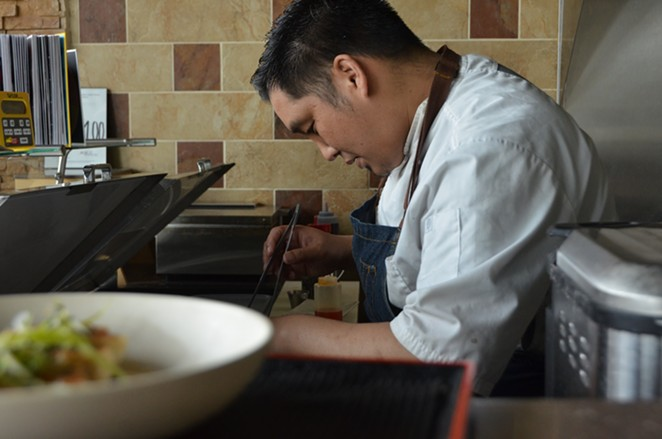 Noodle Tree chef Mike Nguyen will continue to require masks at his UTSA-area eatery. - LEA THOMPSON